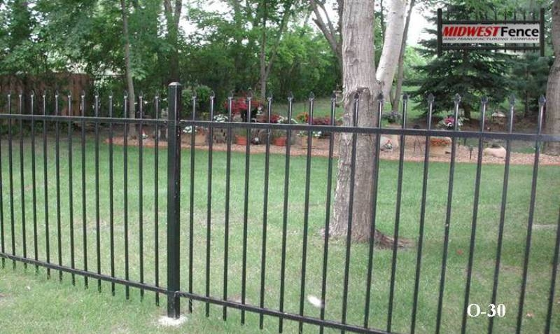 2 Rail Ornamental Iron Fence