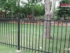 2 Rail Ornamental Iron Fence Stylish