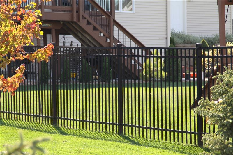 Rail ornamental iron fences midwest fence