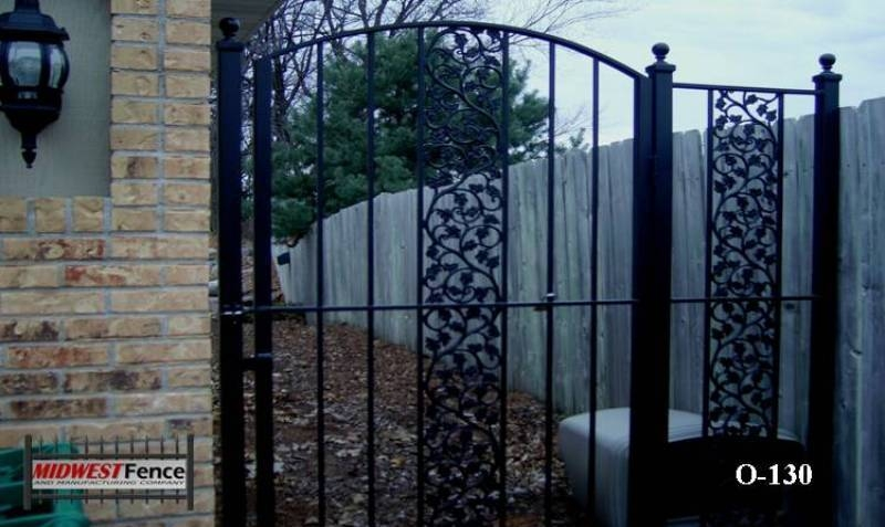 Gates for ornamental iron fence