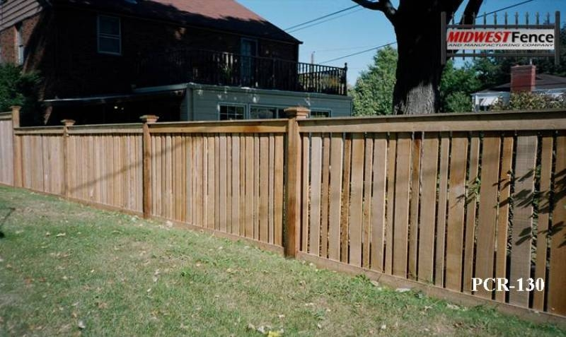 Capped Rail Wood Picket Fence