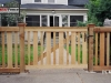 Capped Rail Cedar Picket Fence and Gate