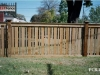 Alternate Width Capped Rail Cedar Picket Fence