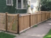 Capped Rail Cedar Picket Fence