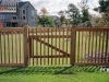 Capped Rail Cedar Picket Fence With Custom Gate