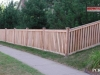 Capped Rail Cedar Picket Fance