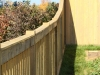 Curved Cedar Rail Picket Fence