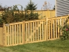 Closed Top Cedar Rail PIcket Fence