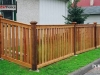 Capped Rail Cedar Picket Fence With Post Caps