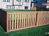 Closed Top Cedar Picket Fence