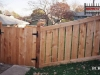 Capped Cedar PIcket Fence With Gate