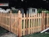 Colonial Cedar Picket Fence With French Posts