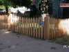 Scalloped Colonial Cedar Picket Fence