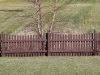 Scalloped Flat Topped Rail Fence