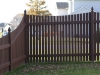 Scalloped Flat Topped Cedar Picket Fence
