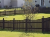 French Capped Cedar Rail Picket Fence