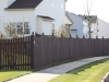 Flat Topped Cedar Picket Fence