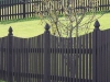 Flat Topped Picket Fence With French Gothic Caps