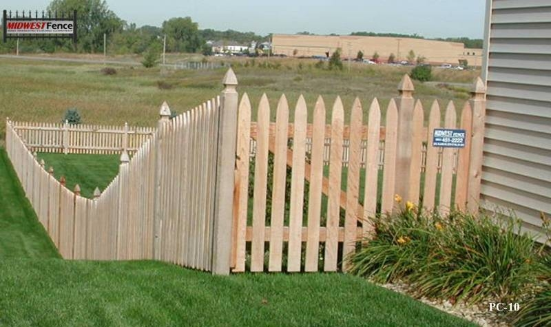 French Gothic Wood Picket Fences Midwest Fence