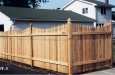 French Gothic Cedar Fence With Topped Posts