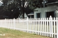 White French Gothic Picket Fence