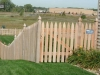 French Gothic Style Cedar Picket Fence and Gate