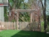 French Gothic Style Cedar Picket Fence with Gate and Pergola
