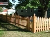 Scalloped French Gothic Picket Cedar Fence