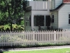 Scalloped French Gothic White Picket Fence