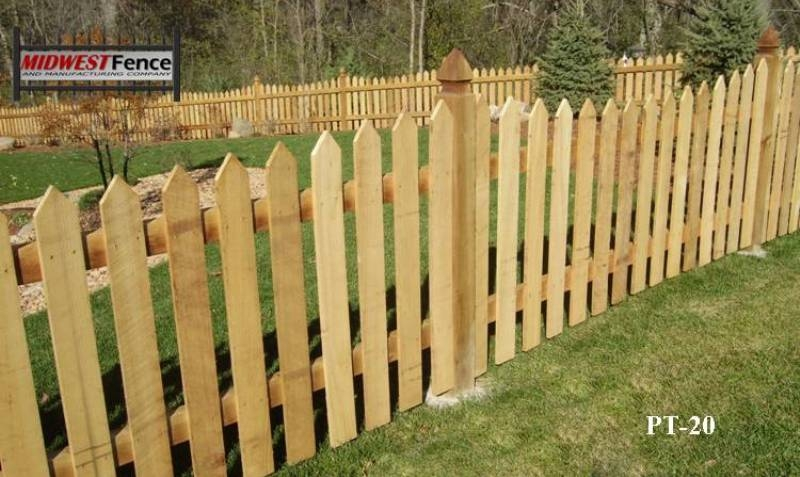 Wooden Fence Part - 47: Traditional Wood Picket Fence