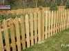 Traditional Cedar Picket Fence