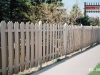 Alternating Board Traditional Cedar Picket Fence