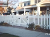 Scalloped Traditional Cedar picket Fence With Gate