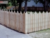 Alternating Traditional And Flat Topped Picket Fence