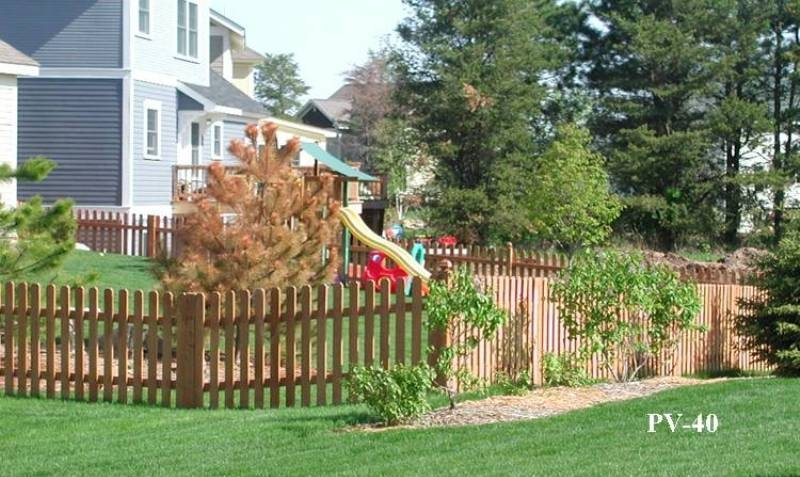 Virginian Wood Picket Fences Midwest Fence