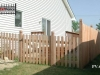 Scalloped Virginian Styled Cedar Picket Fence and Gate