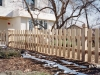 Scalloped Virginian Styled Cedar Picket Fence