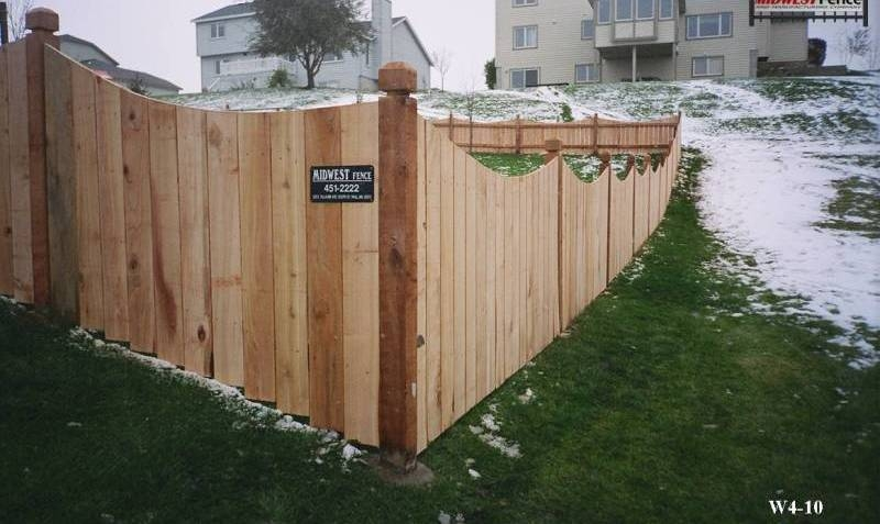 4 Foot High Wood Private Fence