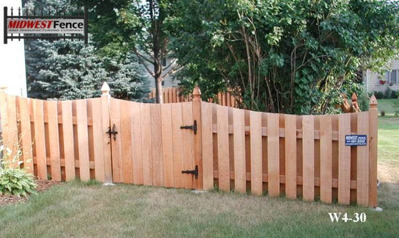 4 foot high wood private fences midwest fence for High privacy fence ideas
