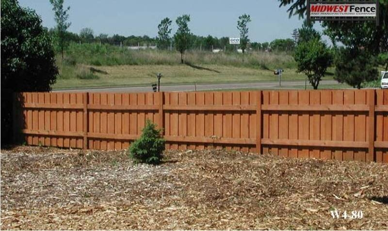 4 foot high wood private fences midwest fence for 4 foot fence ideas