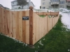 4 Foot High Solid Board Scalloped Cedar Privacy Fence and Topped Posts