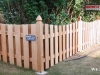 4 Foot High Alternating Board Scalloped Cedar Fence and Topped Posts