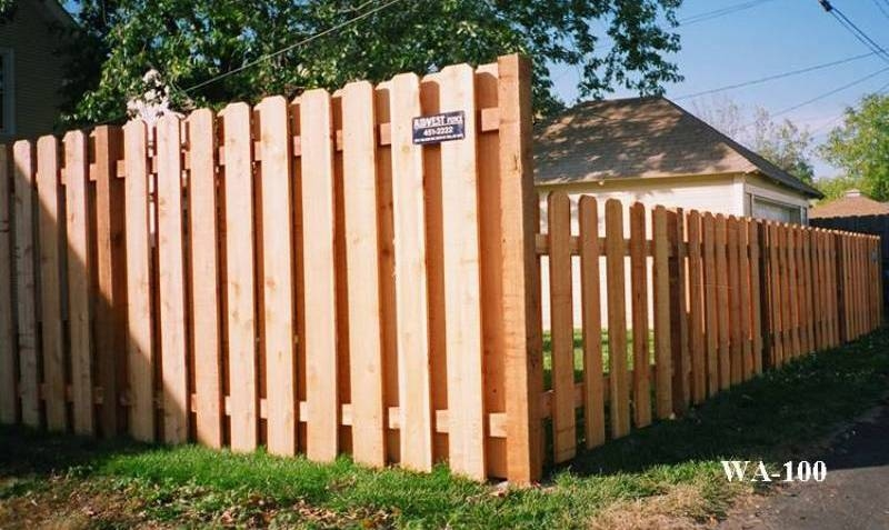 Paling Fence Designs Alternating wood private fences midwest fence alternating board privacy fence workwithnaturefo