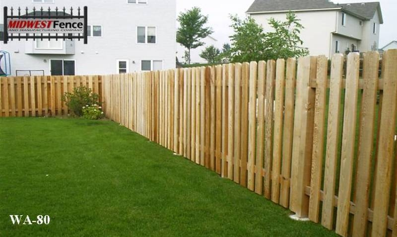 Alternating Wood Private Fence