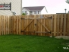 Alternating Board Privacy Fence With Double Gate