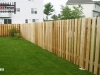 Flat topped Alternating Board Privacy Fence
