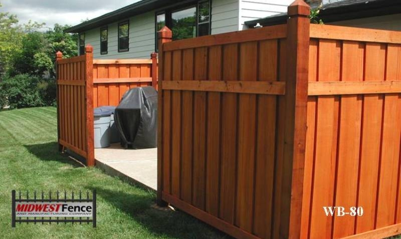 Batten Wood Private Fences Midwest Fence
