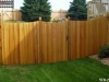 Batten Wood Fence With Traditional Tops