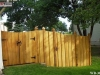 Batten Wood Fence With Gate