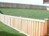 Batten Fence With Decorative Caps